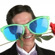 Stock Photo: Oversize Glasses & Rose