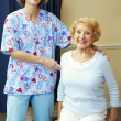 Physical Therapist and Patient - Stock Photo