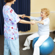 Stock Photo: Physical Therapy Workout