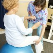 Stock Photo: Physical Therapy with YogBall