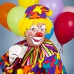 alkoholische clown — Stockfoto