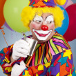 alcoholische clown — Stockfoto