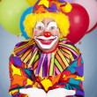 Birthday Clown Open Handed — Stock Photo