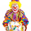 Birthday Clown With Cake — Stock Photo #6802262