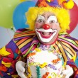 图库照片: Birthday Clown with Blank Cake