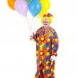 Classic Clown with Balloons — Stock Photo