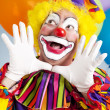 clown - jazz handen — Stockfoto