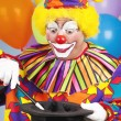 Clown Does Magic Trick — Stock Photo