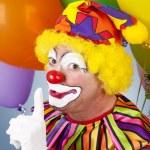 Clown Has a Secret — Stock Photo