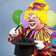 Foto Stock: Clown Magician