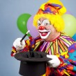 clown goochelaar — Stockfoto
