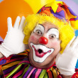 Clown Makes Funny Face — Stock Photo