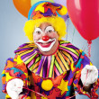 Clown mit Ballons — Stockfoto