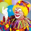 Clown Schnappender Finger — Stockfoto