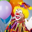 Clown Waves Hello — Stockfoto