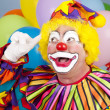 clown med ljus idé — Stockfoto