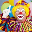 Clown With Idea — Stock Photo