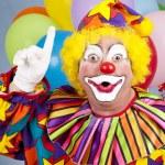 Clown With Idea — Stock Photo
