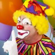 färgglada clown - shhhh — Stockfoto