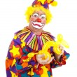 angewidert Clown mit Ballon-Hund — Stockfoto #6802384