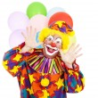 Funny Birthday Clown — 图库照片
