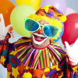 Funny Clown in Big Glasses — Stockfoto