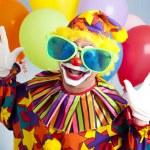 Funny Clown in Big Glasses — Stock Photo