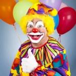 Happy Clown-Daumen hoch — Stockfoto