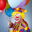 Happy Clown With Balloons — Стоковое фото #6802421