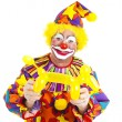 Happy Clown mit Ballon-Hund — Stockfoto #6802423