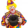 Sad Clown Empty Hat — Stock Photo