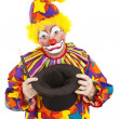 Sad Clown Empty Hat — Stock Photo #6802444