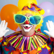 Dom clown verrassing — Stockfoto