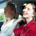 Distracted Teenage Driver — Stock Photo