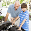 Family Car Repairs — Stock Photo