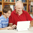Family Computer Time — Stock Photo
