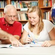Father Daughter Study Time — Stockfoto
