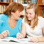 Homework Help From Mom or Teacher — Stock Photo #6802684