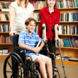 Kids in Library - Disabilities - Stok fotoraf