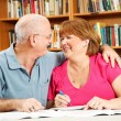 Romance at the Library — Stockfoto