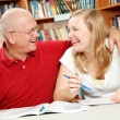 Study Time - Father and Daughter — Stock Photo