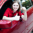Teen Driver - Thumbs Up — Stock Photo