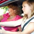 Teen Driver - Car Accident — Stock Photo