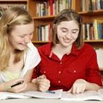 Teen Girls - Homework Fun — Stock Photo