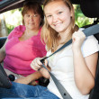 Teenage Driver Fastens Seatbelt — Stock Photo #6802791