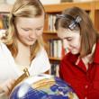 Teenagers Study Globe — Stock Photo