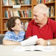 Tutoring in Library — Stock Photo #6802832