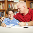 Father and Son in Library — Stock Photo #6803110