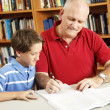 Stock Photo: Homework Help From Dad