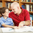 Homework Help from Dad — Stock Photo